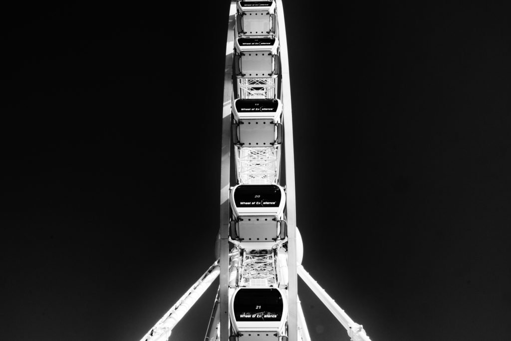 Brighton Wheel Black and White