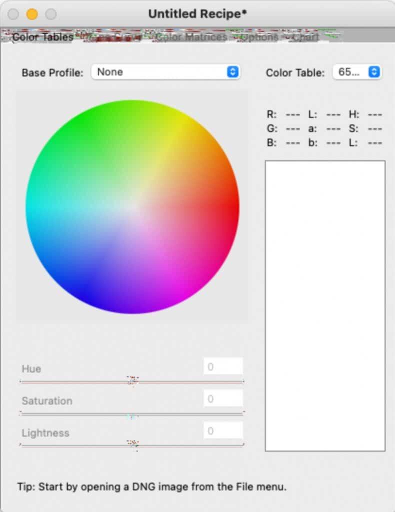 Adobe DNG Profile Editor
